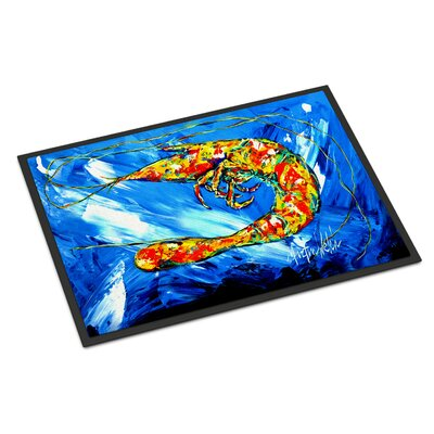 Ice Shrimp Doormat Mat Size: Rectangle 2 x 3