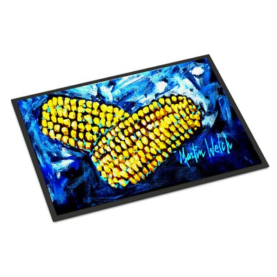 Two Corn Please Doormat Rug Size: 2 x 3
