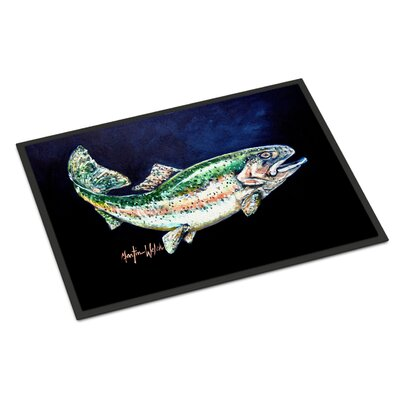 Deep Rainbow Trout Doormat Rug Size: 16 x 23