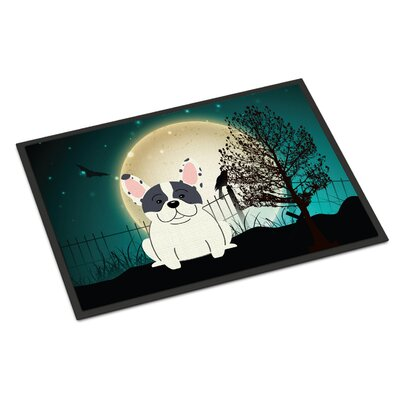 Halloween Scary French Bulldog Doormat Rug Size: Rectangle 2 x 3, Color: Piebald