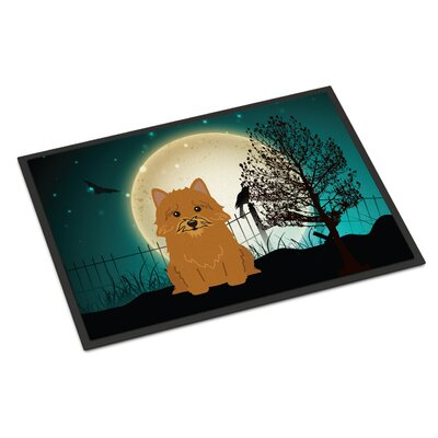 Halloween Scary Norwich Terrier Doormat Rug Size: Rectangle 2 x 3
