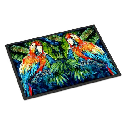 Parrots Yo Yo Mama Doormat Rug Size: Rectangle 16 x 23