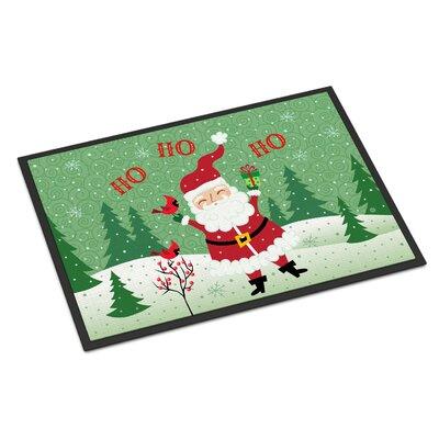 Merry Christmas Santa Claus Ho Ho Ho Doormat Mat Size: 16 x 23