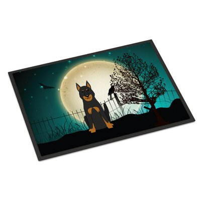Halloween Scary Beauce Shepherd Dog Doormat Rug Size: 2 x 3
