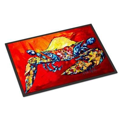 Bring it on Crab Doormat Rug Size: 16 x 23