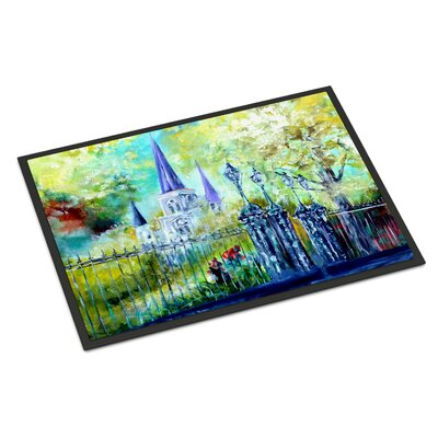 St Louis Cathedrial Across the Square Doormat Rug Size: Rectangle 2 x 3