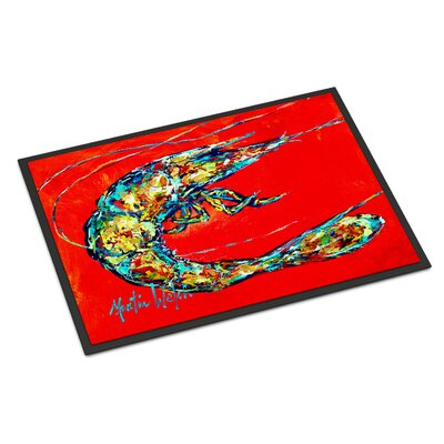 Shrimp Boil Doormat Rug Size: Rectangle 16 x 23