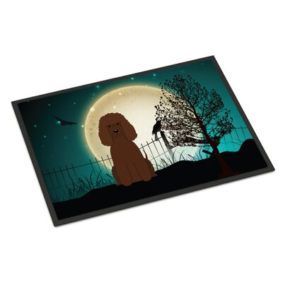 Halloween Scary Irish Water Spaniel Doormat Rug Size: 2 x 3