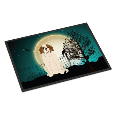 Halloween Scary Saint Bernard Doormat Mat Size: Rectangle 2 x 3