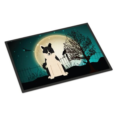 Halloween Scary Russo-European Laika Spitz Doormat Mat Size: Rectangle 2 x 3