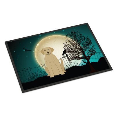 Halloween Scary Labrador Doormat Mat Size: Rectangle 16 x 23, Color: Yellow