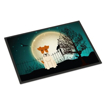 Halloween Scary Wire Fox Terrier Doormat Mat Size: Rectangle 2 x 3