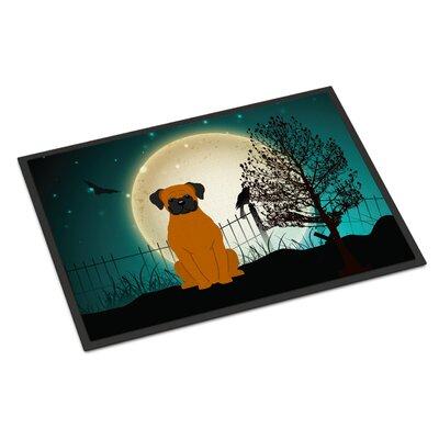Halloween Scary Boxer Doormat Rug Size: 2 x 3