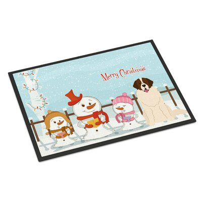 Merry Christmas Carolers Moscow Watchdog Doormat Mat Size: Rectangle 2 x 3