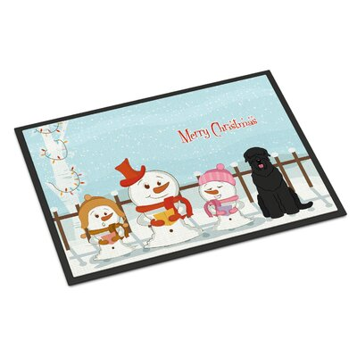 Merry Christmas Carolers Russian Terrier Doormat Rug Size: Rectangle 2 x 3