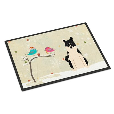 Christmas Presents Between Friends Russo-European Laika Spitz Doormat Mat Size: Rectangle 2 x 3