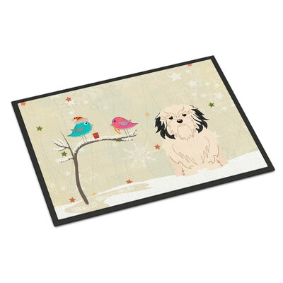 Christmas Presents Between Friends Lowchen Doormat Mat Size: Rectangle 2 x 3