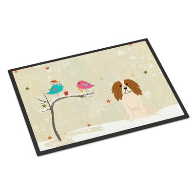 Christmas Presents Between Friends Cavalier Spaniel Doormat Rug Size: 2' x 3'