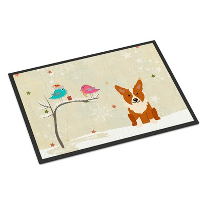 Christmas Presents Between Friends Corgi Doormat Mat Size: Rectangle 2 x 3