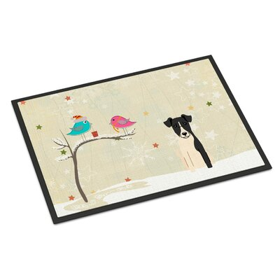 Christmas Presents Between Friends Smooth Fox Terrier Doormat Rug Size: 2 x 3