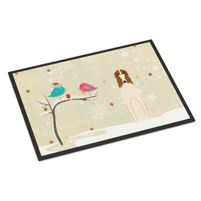 Christmas Presents Between Friends Borzoi Doormat Rug Size: 2 x 3