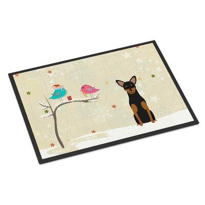 Christmas Presents Between Friends Manchester Terrier Doormat Rug Size: 2 x 3