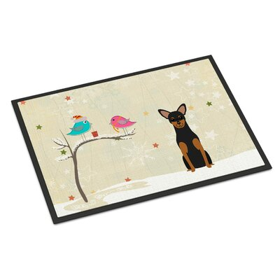 Christmas Presents Between Friends Manchester Terrier Doormat Mat Size: Rectangle 2 x 3