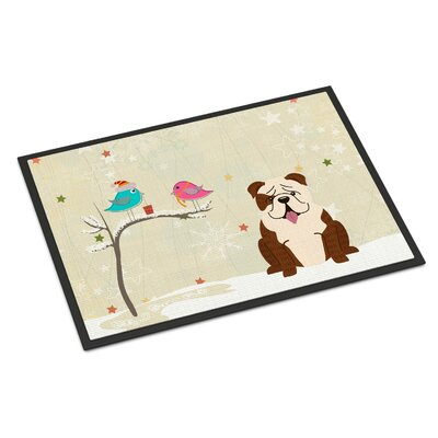 Christmas Presents Between Friends English Bulldog Doormat Mat Size: Rectangle 2' x 3'