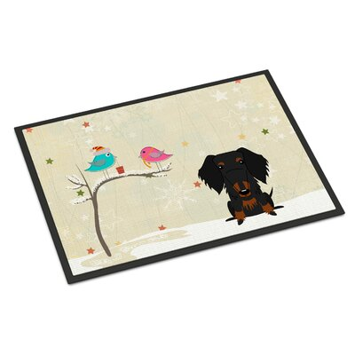 Christmas Presents Between Friends Wire Haired Dachshund Doormat Rug Size: Rectangle 2 x 3