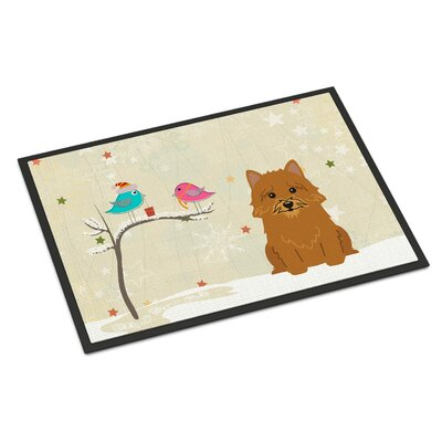 Christmas Presents Between Friends Norwich Terrier Doormat Mat Size: Rectangle 2 x 3
