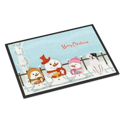 Merry Christmas Carolers Boxer Cooper Doormat Mat Size: Rectangle 2 x 3