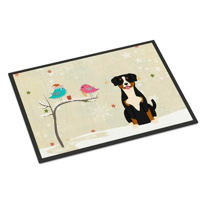 Christmas Presents Between Friends Entlebucher Doormat Mat Size: Rectangle 2 x 3