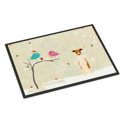Christmas Presents Between Friends Whippet Doormat Mat Size: Rectangle 2 x 3