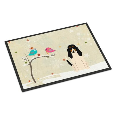 Christmas Presents Between Friends Swiss Hound Doormat Mat Size: Rectangle 2 x 3