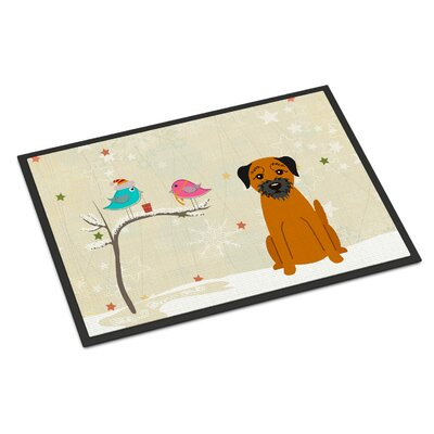 Christmas Presents Between Friends Border Terrier Doormat Mat Size: Rectangle 2 x 3