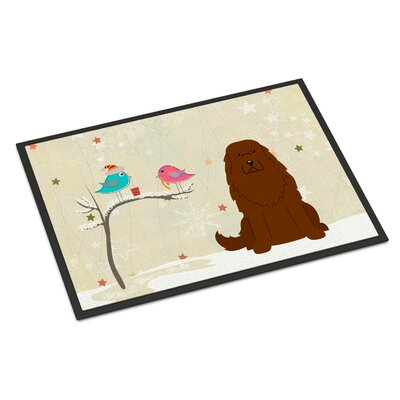 Christmas Presents Between Friends Caucasian Shepherd Dog Doormat Mat Size: Rectangle 2 x 3