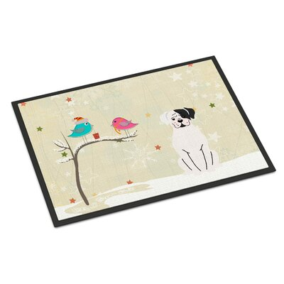 Christmas Presents Between Friends Boxer Cooper Doormat Rug Size: 2 x 3