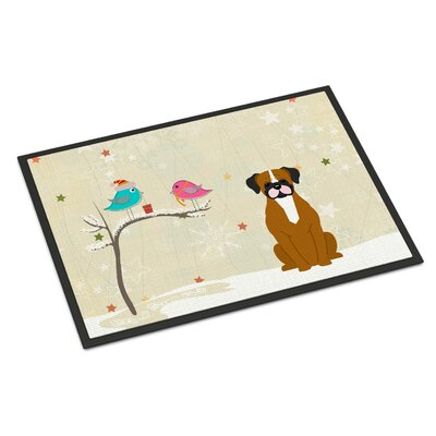 Christmas Presents Between Friends Flashy Boxer Doormat Rug Size: Rectangle 2 x 3