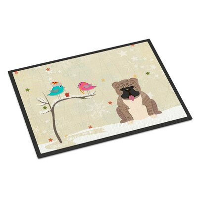 Christmas Presents Between Friends English Bulldog Doormat Rug Size: Rectangle 2 x 3