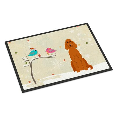Christmas Presents Between Friends Irish Setter Doormat Mat Size: Rectangle 2 x 3