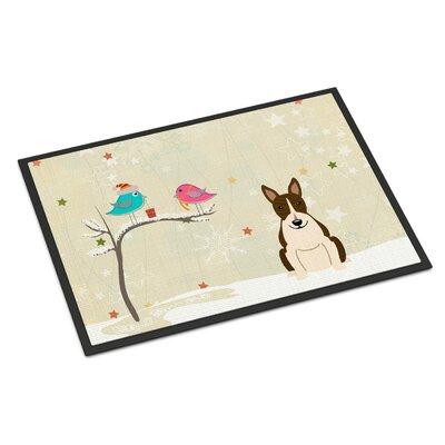 Christmas Presents Between Friends Bull Terrier Doormat Rug Size: 2 x 3