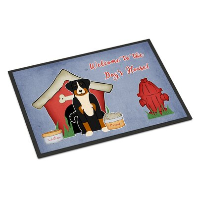 Dog House Appenzeller Sennenhund Doormat Mat Size: Rectangle 2 x 3