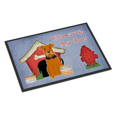 Dog House Airedale Doormat Rug Size: Rectangle 2 x 3