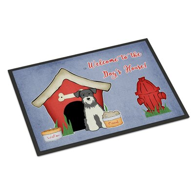 Dog House Miniature Schnauzer Doormat Mat Size: Rectangle 2 x 3, Color: Salt/Papper