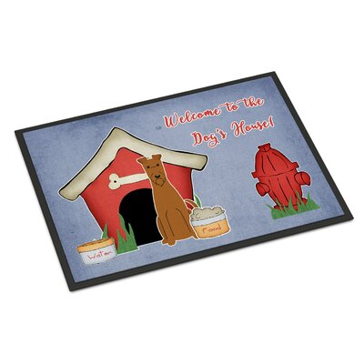 Dog House Irish Terrier Doormat Mat Size: Rectangle 2' x 3'