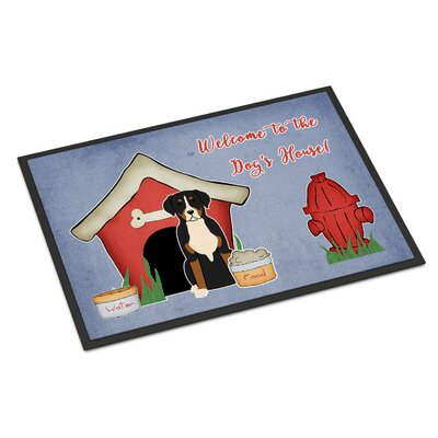Dog House Greater Swiss Mountain Dog Doormat Mat Size: Rectangle 2 x 3