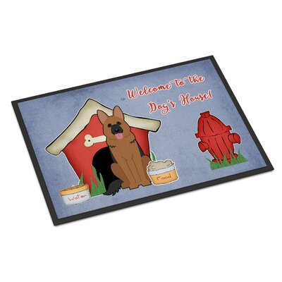 Dog House German Shepherd Doormat Mat Size: Rectangle 2 x 3