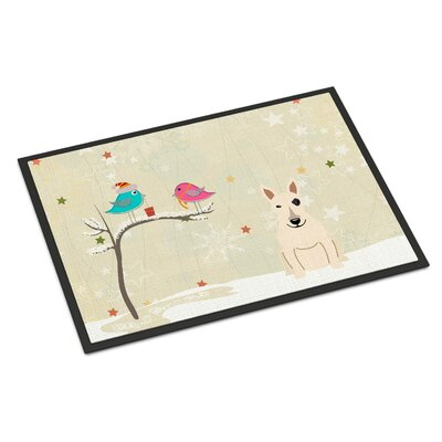 Christmas Presents Between Friends Bull Terrier Doormat Rug Size: Rectangle 2 x 3
