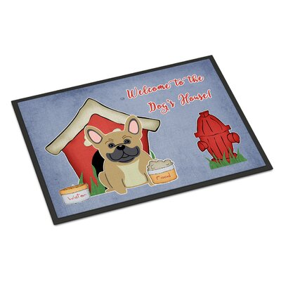 Dog House French Bulldog Doormat Rug Size: 2 x 3