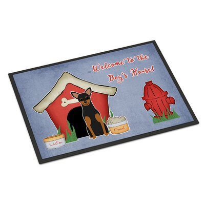 Dog House Manchester Terrier Doormat Rug Size: 2 x 3